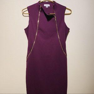 Calvin Klein Dark Purple Fitted/Sheath Dress | 4